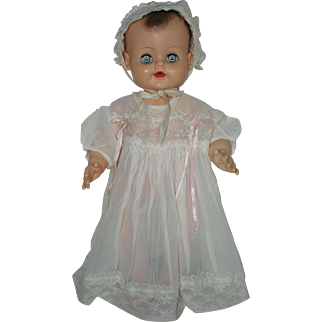 1950's Infant Dress and Bonnet for Large Baby Doll