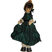 English Old Cottage Doll in Green