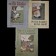1916-1920 Peter Rabbit Books by Saalfield Publishing