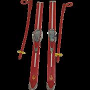 1964 Tressy Skis and Ski Poles