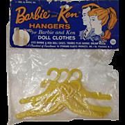 1963 Mattel Barbie and Ken Hangers - orig. packaging