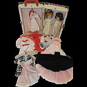 1950's Vogue Jill Dolls x 2, Trunk, Wardrobe