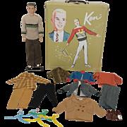 1960's Mattel Molded Hair Ken, Trunk, Wardrobe