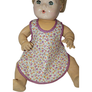 """1940's Floral Cotton Apron for 16"""" - 22"""" Baby Doll"""