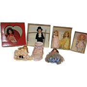 Collection of All Bisque Nancy Ann Story Book Dolls and Lounge