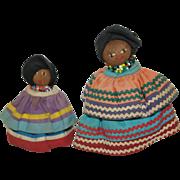Seminole Palm Fiber Indian Dolls