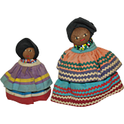 Seminole Palm Fiber Indian Dolls