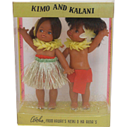 Kimo and Kalani 1970's Hawaiian Dolls - MIP
