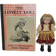 1957 Edition Dare Wright The Lonely Doll Book and Doll