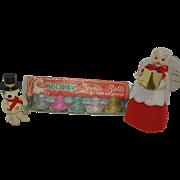 Vintage Christmas - Howard Holt Christmas Angel, Flocked Christmas Bells, and Japan Snowman