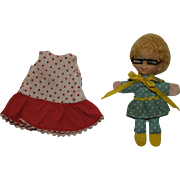 1968 Mattel Mrs. Beaseley doll with original GRANNY GLASSES and Buffy dress