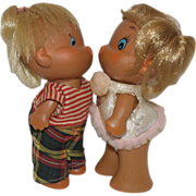 Adorable 1960's Kissing Dolls - Too Cute