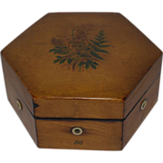 Antique Treen Thread Box - Clark Advertisement