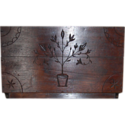 Wonderful Walnut Carved Americana Folk Art Wall Rack