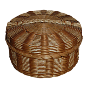 Northeast Native American Covered Basket