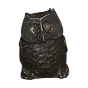 Miniature Lead Owl Funky Figurine