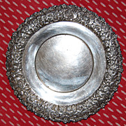 Southington C Co Quadruple Silver Plate Wine Charger or Underplate