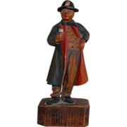 Black Forest Marie Lang Hand Carved and Painted Man - Red Tag Sale Item