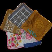 Vintage Cotton Colorful Handkerchiefs - Red Tag Sale Item