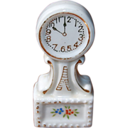 Dollhouse Porcelain Banjo Mantle Clock