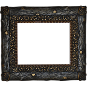 Rustic 'Faux Bois' Wood and Gesso Gilt Picture Frame