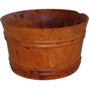 Antique Treenware Washtub Cup