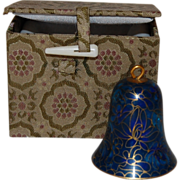 Vintage Cloisonne Bell Ornament with Fabric Gift Box