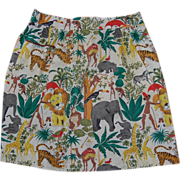 Vintage Jungle Print Kitchen Apron