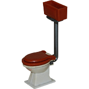 Mattel Littles Cast Iron and Plastic Dollhouse Toilet