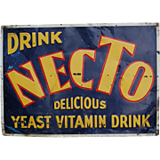 Drink Necto Vintage Tin Advertising Sign