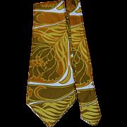 Mod Wide Gold Floral Necktie
