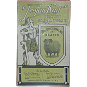 Trojan Knit Health Underwear Advertising Store Box Troy NY
