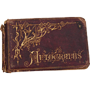 Late 1800's School Girl Autograph Book