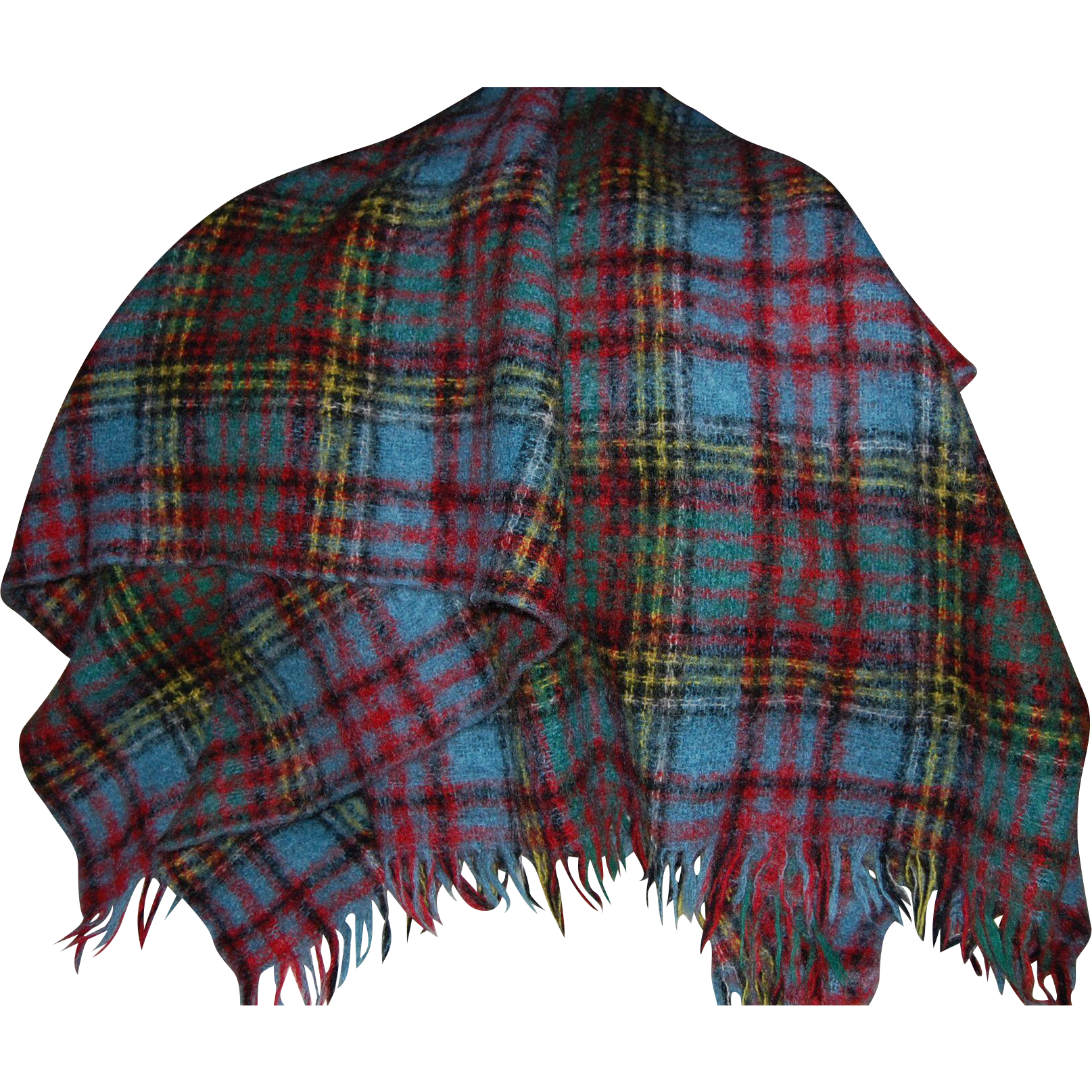 Beautiful Scottish Mohair And Wool Blanket Lap Throw From
