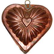 Vintage Copper Heart Kitchen Mold