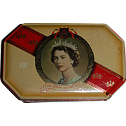 Queen Elizabeth II Coronation Harry Vincent Toffee Souvenir Tin
