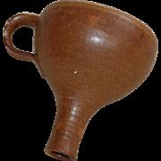 Vintage Brown Albany Slip Crockery Funnel