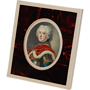German D.R.G.M. Celluloid Frame and Royal Portrait