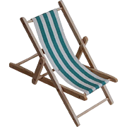 Tiny Dollhouse Slingback Beach or Lawn Chair