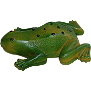 Vintage CV USA Green Frog Toy