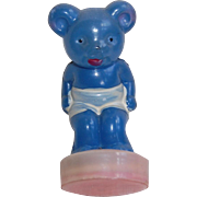 Little Celluloid Blue Bear Measuring Tape - Red Tag Sale Item