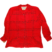 Vintage Red Wool Jacket by Timberline of Concordia