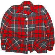 1950's Pendleton Red Plaid Ladies Jacket