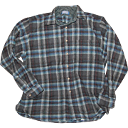 Pendleton Blue Plaid Shirt Jacket