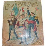1899 Little Soldier Linen Book For Boys