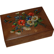 Lousberg Wooden Trinket Box Floral Painting