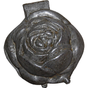 Vintage Rose Pewter Ice Cream Mold