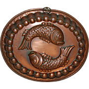 Fantastic Fish Copper Jelly Mold