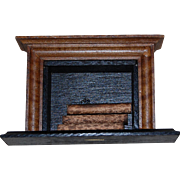 Wooden Dollhouse Fireplace