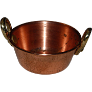 Dollhouse Miniature Copper and Brass Kitchen Pan